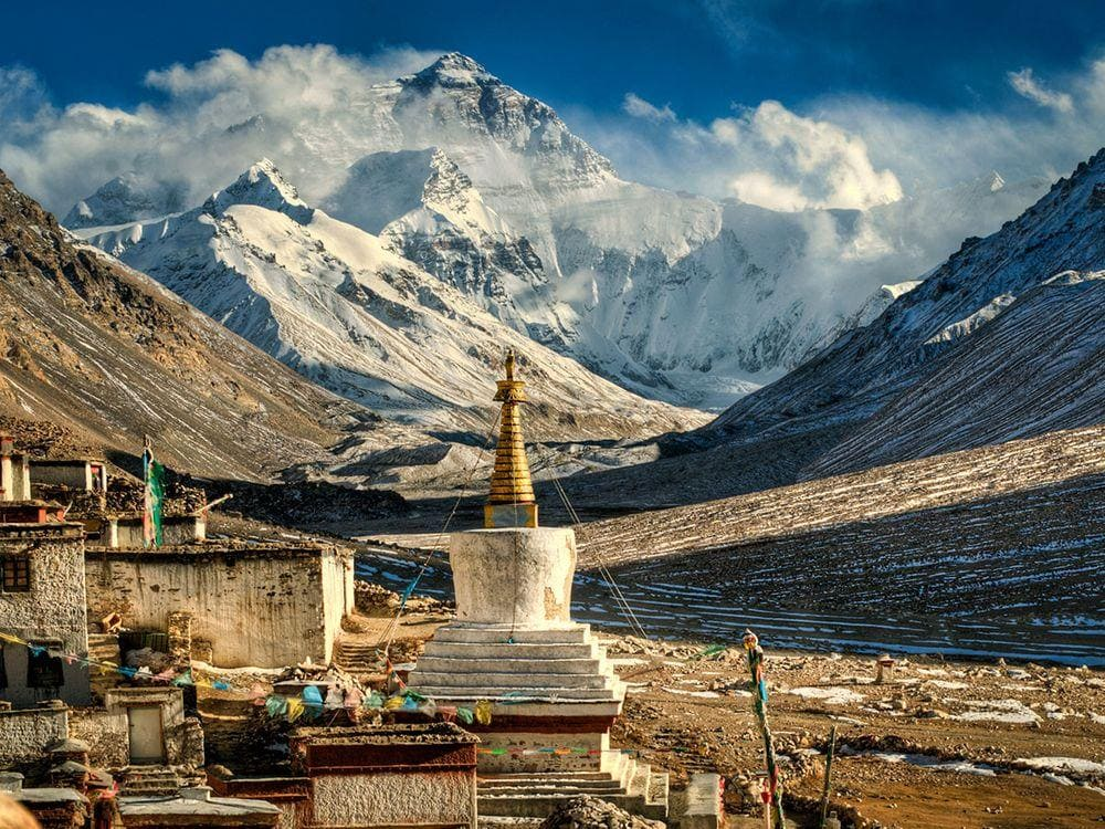 Rongbuk Monastery and Mount Everest, Tibet