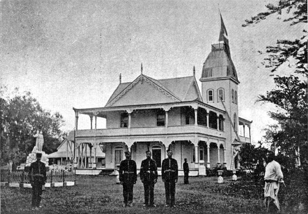 Royal Palace in Tonga, 1900