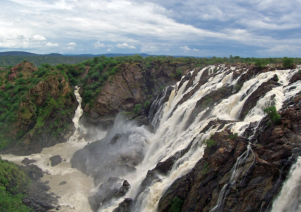Ruacana Falls on the border of Angola and Namibia