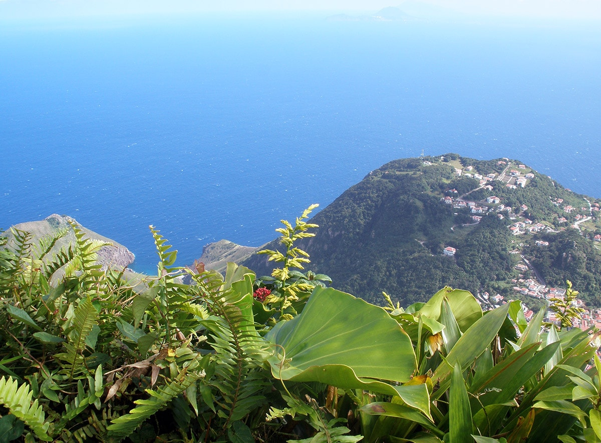 View from Mount Scenery, Saba Island