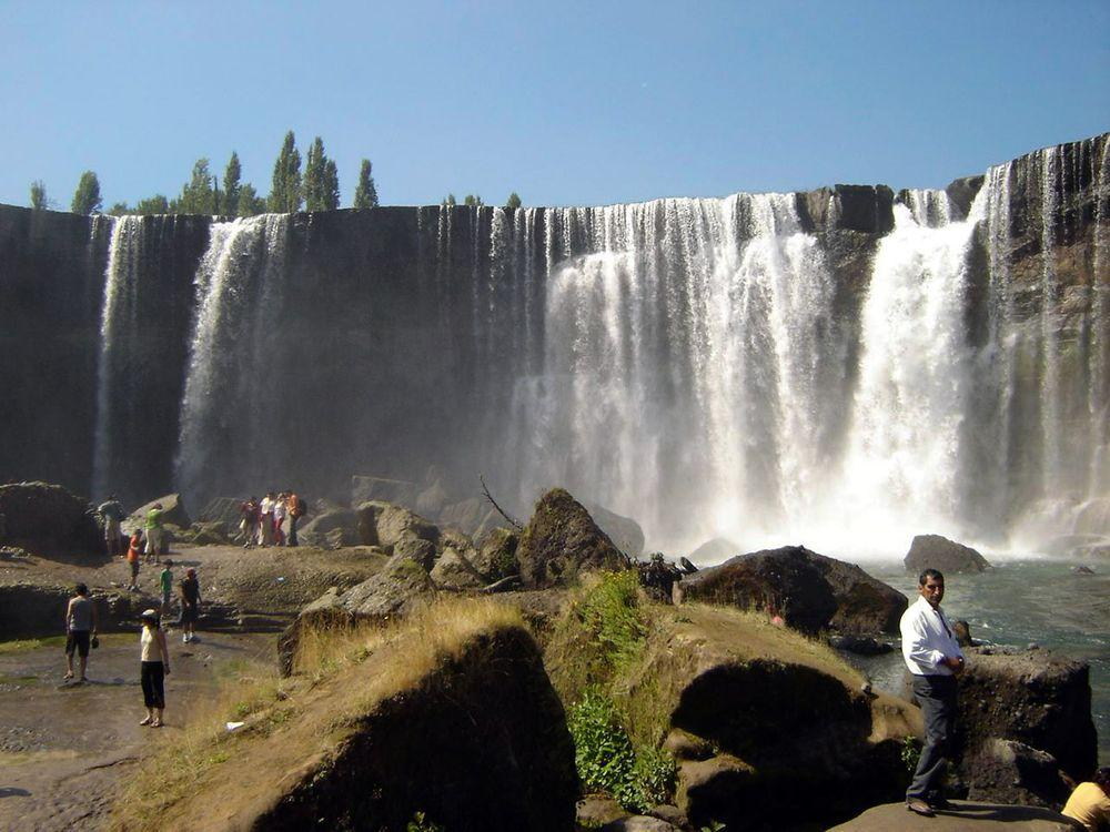 Laja Falls in Chile - the tallest, easternmost fall
