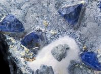 Benitoite crystals from San Benito, United States