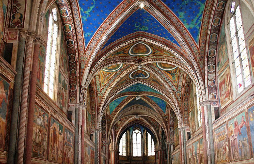 Basilica of San Francesco d'Assisi, interior of the Upper Church