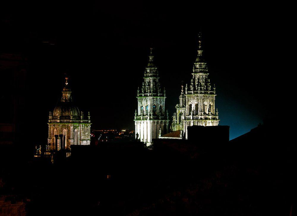 Santiago de Compostela Cathedral in the night, Spain