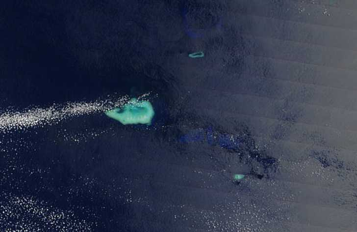 Ashmore and Cartier Islands from satellite