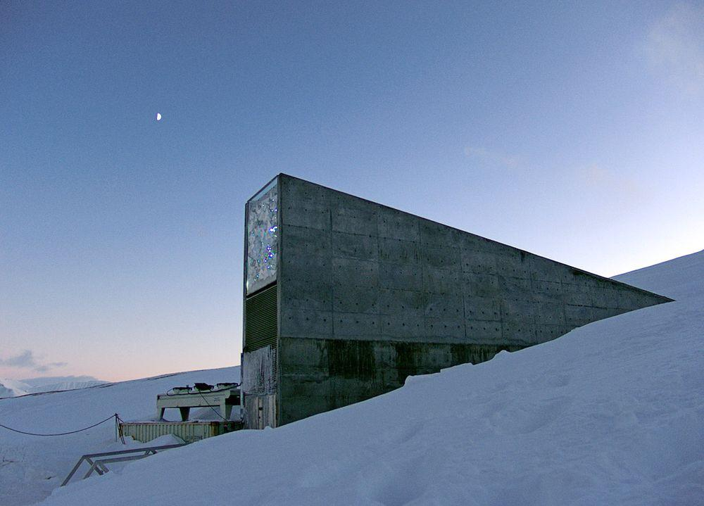 Entrance into Global Seed Vault, Svalbard