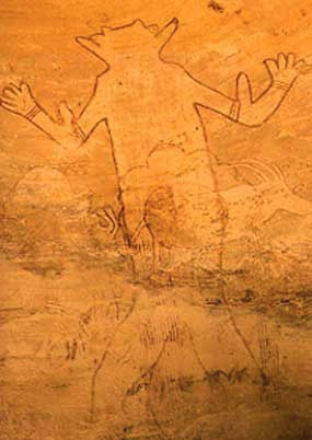Great God of Sefar - cliff drawing in Tassili N'Ajjer, Algeria