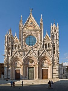 West facade of Siena Cathedral, Italy