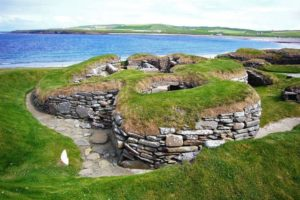 Skara Brae - unique Neolithic village in Orkney Islands