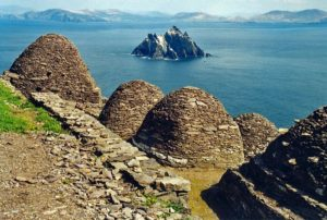 Skellig Michael monastery with Little Skellig in the background, Ireland