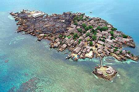 Soledad Miria Island in Panama, after the fire caused by exploded gas stove in 2006