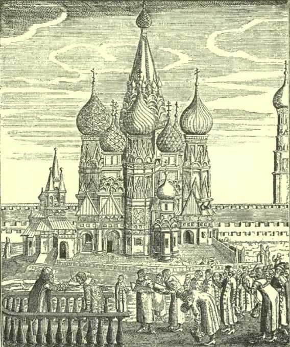 St. Basil's Cathedral in Moscow, 1554