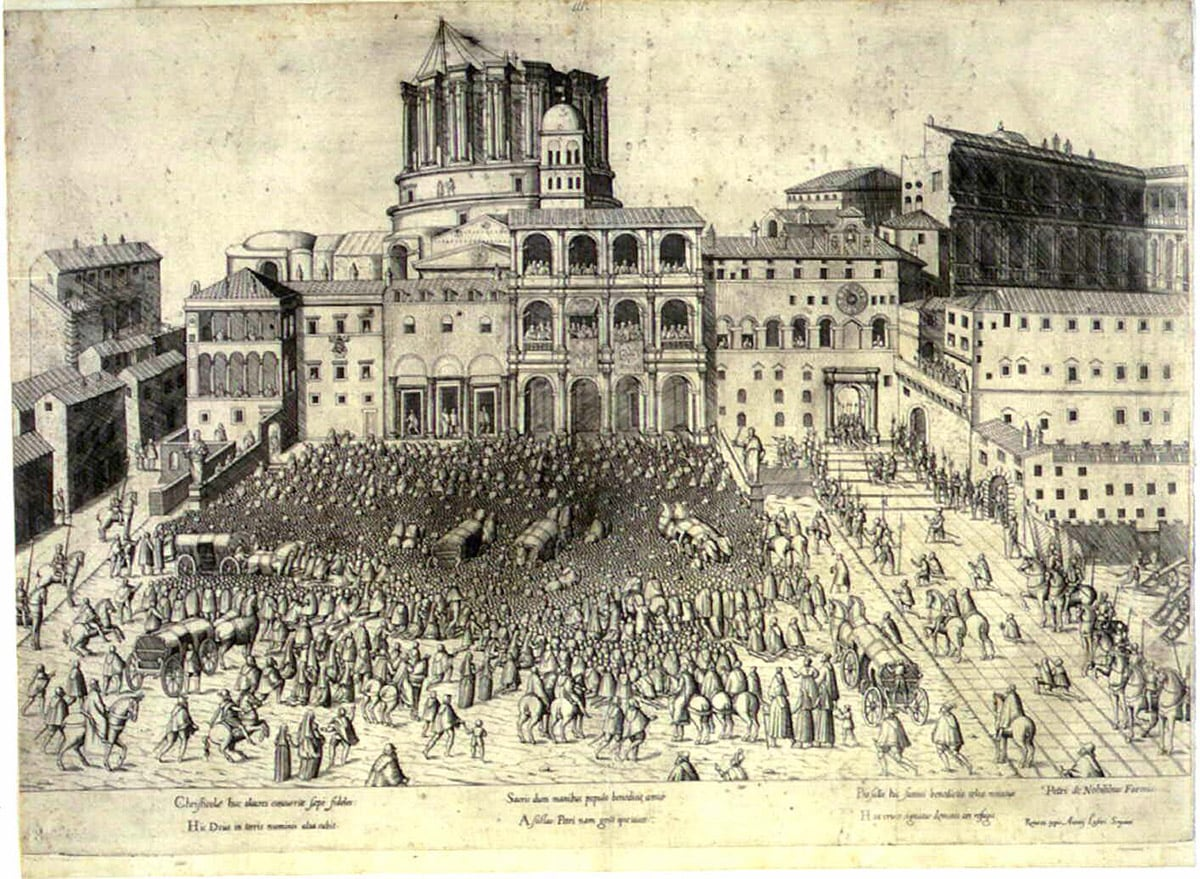 Construction of St. Peter's Basilica around 1600 , Vatican
