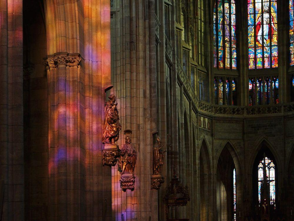 Colors of the stained glass, St. Vitus Cathedral