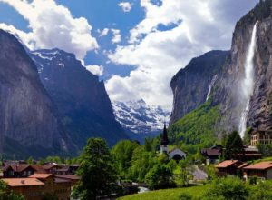 Lauterbrunnen valley and Staubbach, Switzerland