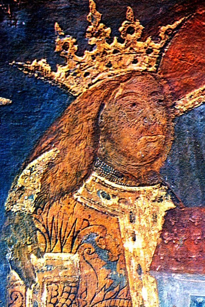 Stephen the Great - frescoe in Voronet Monastery, Romania