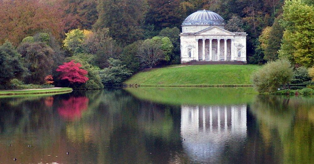 Stourhead Pantheon and gardens, Wiltshire