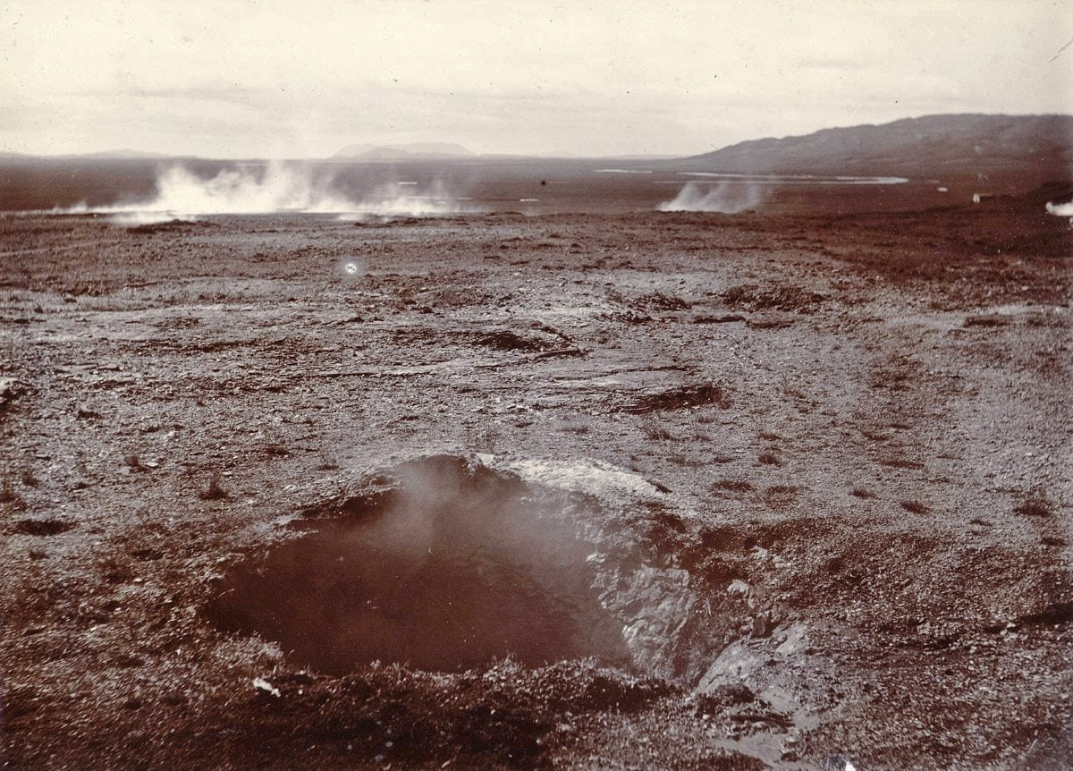 Strokkur is dormant, around 1900