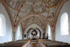 Interior of Sulsted Church, Denmark