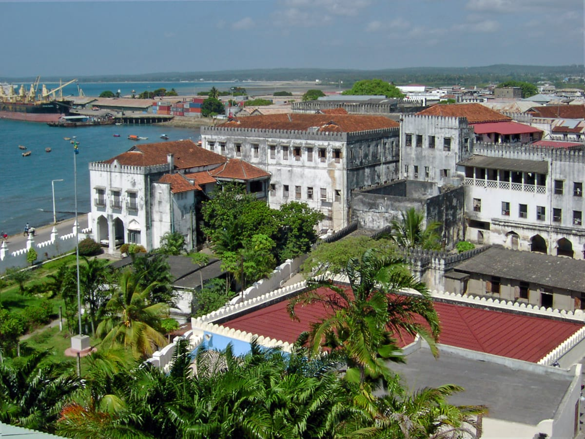 Palace of Sultan in Zanzibar Stone Town