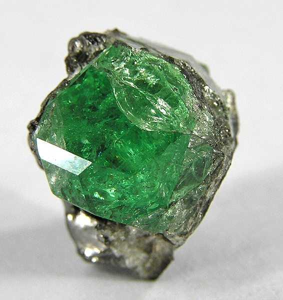 Crystal of tsavorite from Scorpion Mine, Kenya