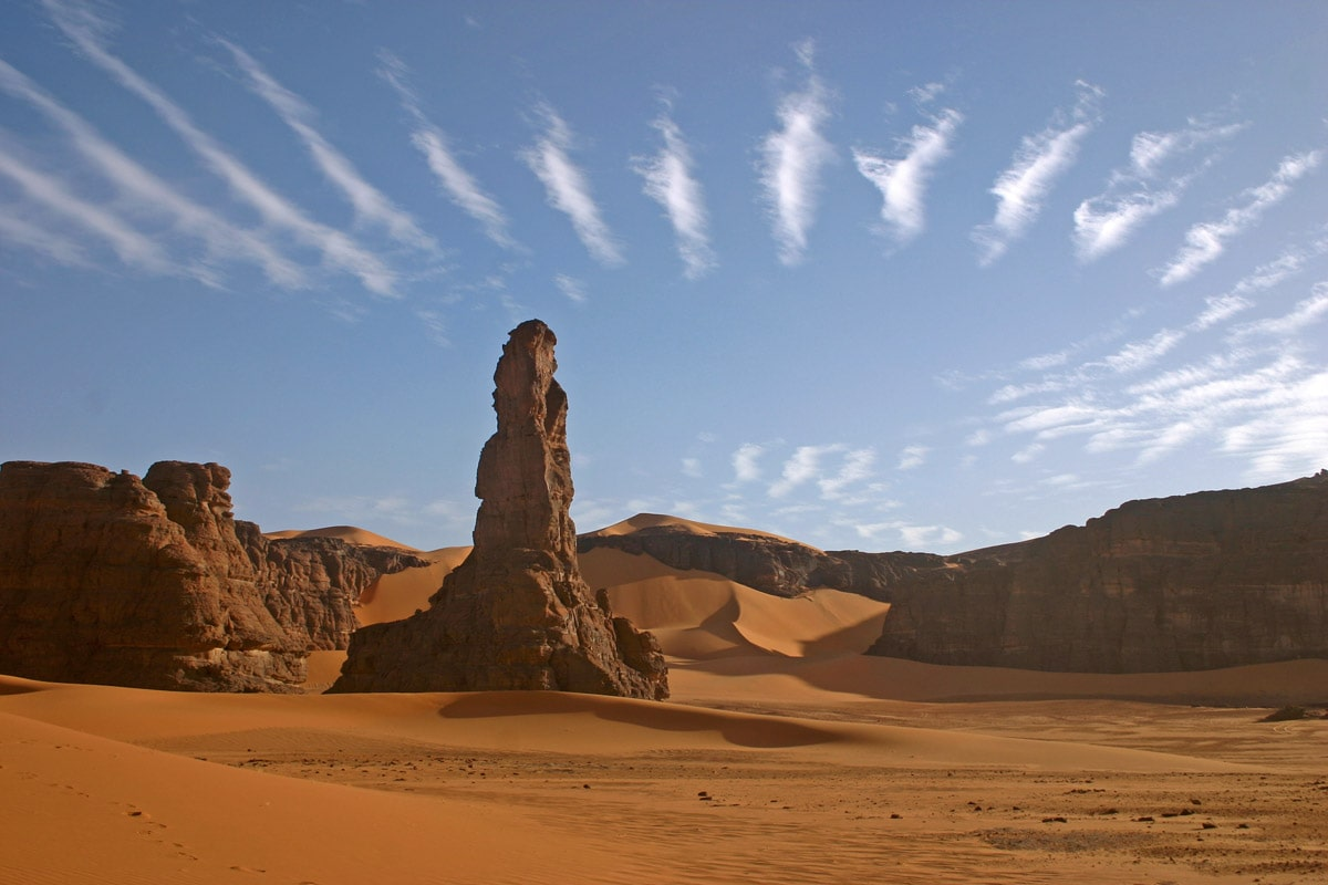 Landscape in Tadrart Acacus mountains, Libya