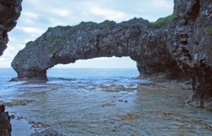 One of Talava natural arches, Niue
