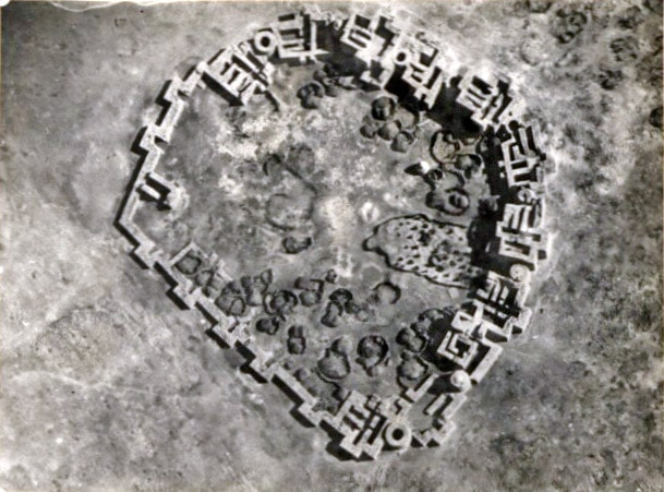 Taleh Fort from above, Somalia