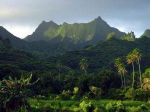 Te Manga mountains, Rarotonga