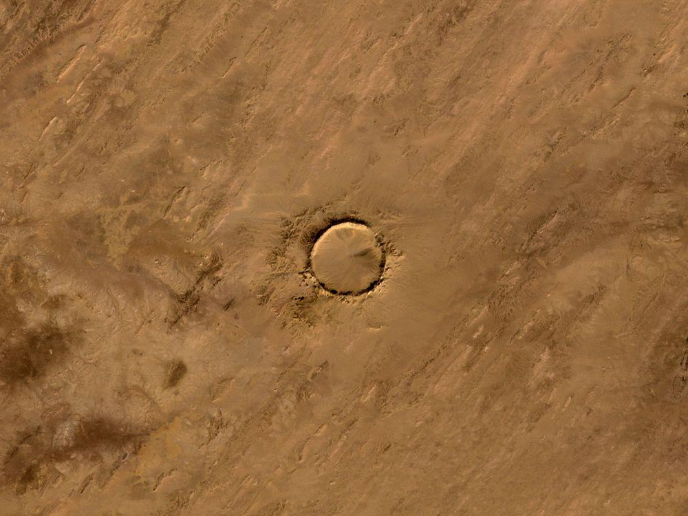Tenoumer Crater in Mauritania, January 2008