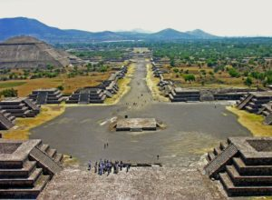 Avenue of the Dead in Teotihuacan, Mexico