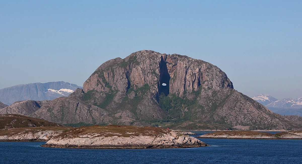 Torghatten - mountain with a hole through it, Norway