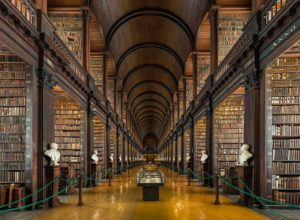 Old Library in Trinity College of Dublin, Ireland