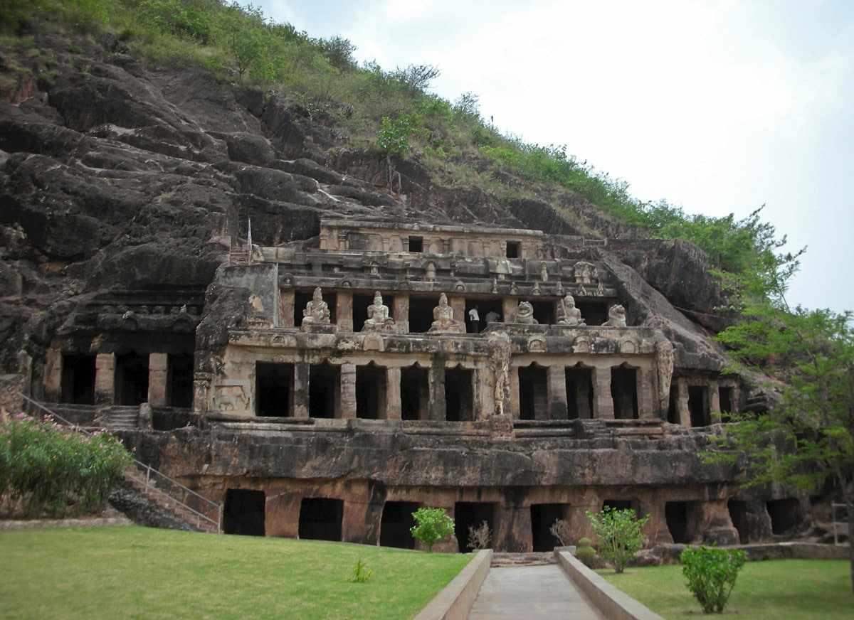 Four storied Undavalli caves, Andhra Pradesh