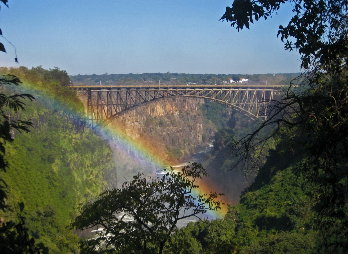 Victoria Falls Bridge between Zambia and Zimbabwe