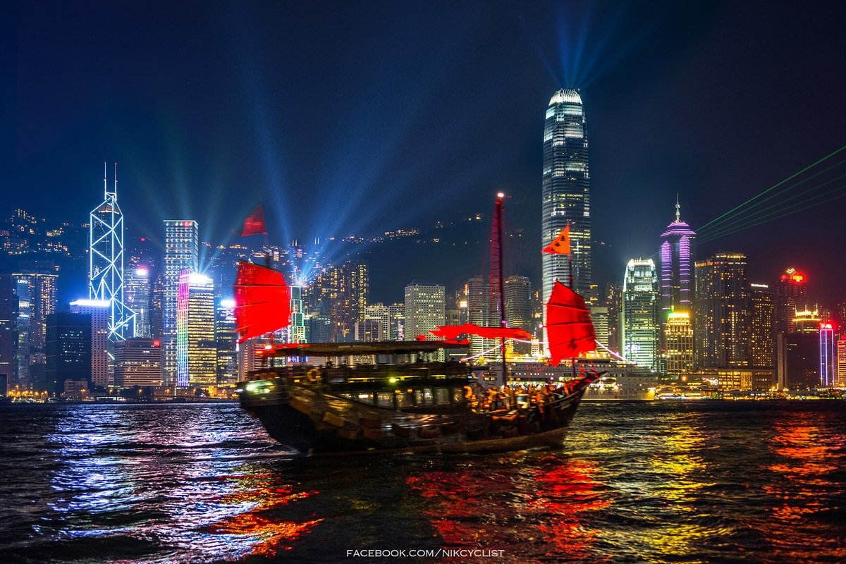 Every evening in Hong Kong takes place a unique show of light and sound - Symphony of Light