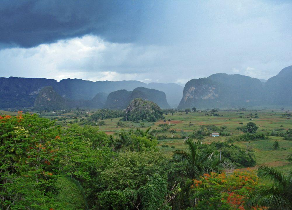 Rain is coming to Viñales Valley, Cuba