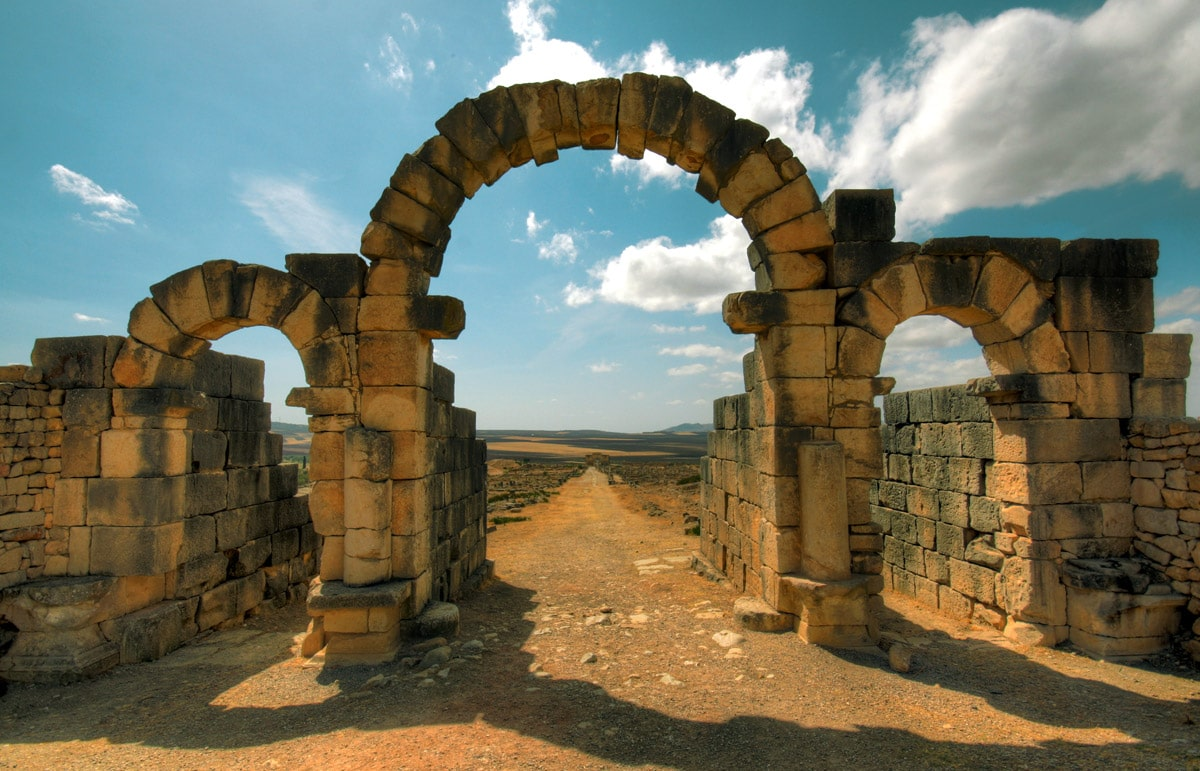 Tingis Gate in Volubilis, Morocco