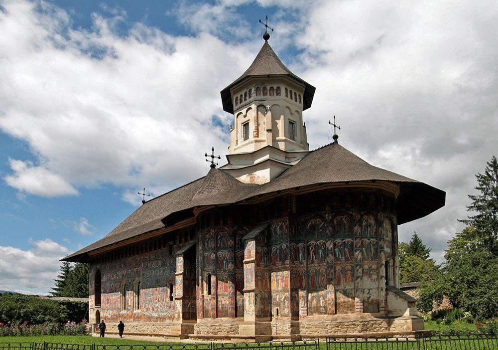 Saint George Church in Voronet Monastery, Romania
