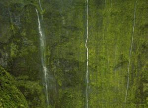 Waialeale Falls, Weeping Wall in Hawaii