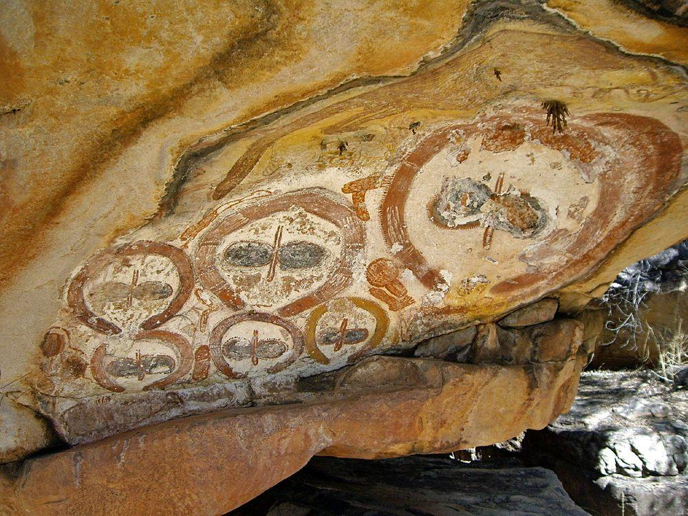The mysterious Wandjina paintings in Mitchell Plateau, Western Australia