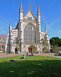Winchester Cathedral in Hampshire, west front