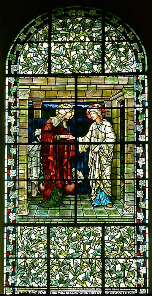 Winchester Cathedral, Preraphaelite stained glass window