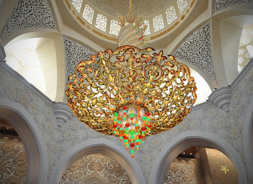 Chandelier with Swarovski crystals in Sheikh Zayed Mosque, Abu Dhabi