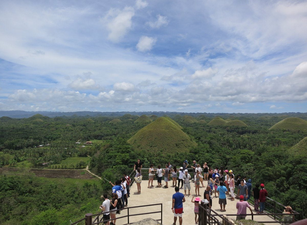 Tourists in Chocolate Hills