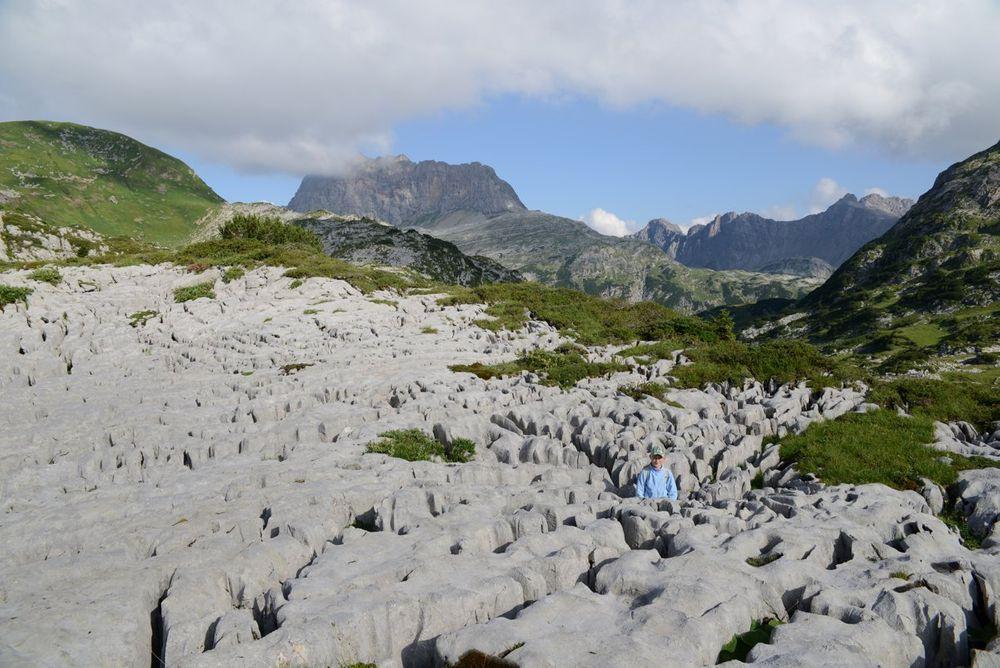 Limestone pavement in Steinernes Meer, Austria