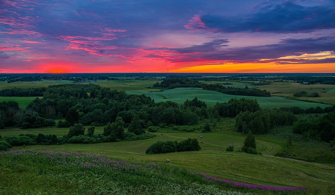 Photoplaces.eu, view from Šatrija Hill in Lithuania