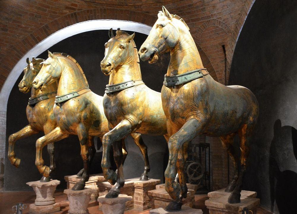 The original Horses of Saint Mark in Basilica