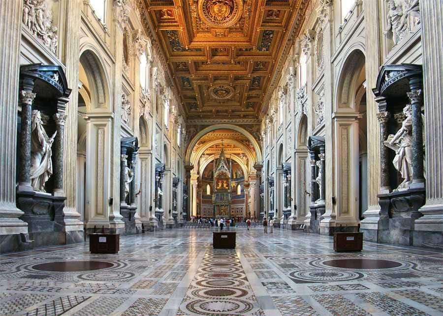 Interior of the Archbasilica of St. John Lateran, Rome