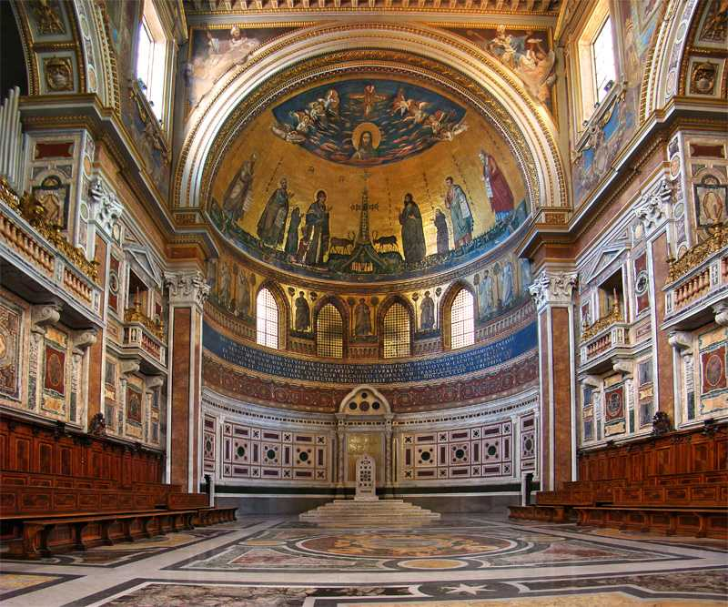 Apse and cathedra in the Archbasilica of St. John Lateran, Rome